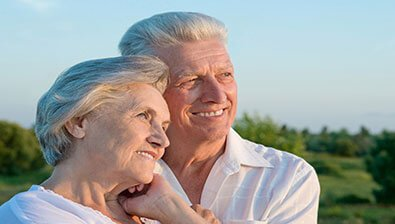 Elderly couple enjoying the view after Cataracts treatment